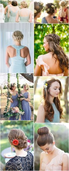 wedding/ bridesmaid hairstyles-updos, braids and waterfall braids