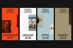 Sprengel Museum - visual identity by Bureau Bordeaux and David Turner Web Design, Layout Design, Print Layout, Book Design, Print Design, Bureau Design, Cover Design, Museum Identity, Museum Branding