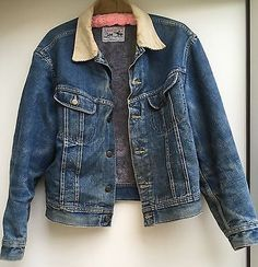 51a87f48cd7 Vintage Lee Storm Rider Jean Jacket Denim Jacket Blanket Lined Made In USA