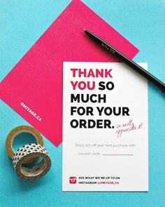 Omiyage Blogs: Totally Design Thank You Cards | Check out Techhelp.ca for some marketing insights