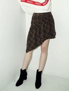 Noir Drape Skirt