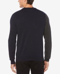 Perry Ellis Men's Argyle Sweater - Monaco Blue 2XL