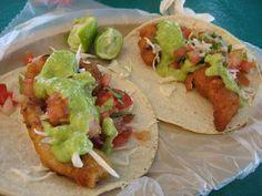 Eat Baja-style fish tacos in Baja California Sur, Mexico. Seafood Recipes, Mexican Food Recipes, Cooking Recipes, Healthy Recipes, Ethnic Recipes, Healthy Food, Mexican Kitchens, Mexican Dishes, Gourmet