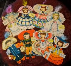From the Land of Make Believe Series; a collection of Hallmark Doll Cards circa 1947