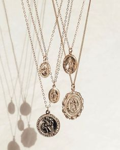 Coin necklaces for days! Our gold filled & sterling silver coin necklaces are perfect for everyday wear, without tarnishing. Which would you pick? Dainty Jewelry, Cute Jewelry, Silver Jewelry, Jewelry Accessories, Jewelry Design, Photo Jewelry, Fashion Jewelry, Minimal Jewelry, Jewelry Photography