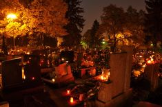 All Saints' Day, Cemetery in Nitra, SLovakia All Saints Day, All Souls, Samhain, Halloween, Cemetery, Serenity, Around The Worlds, Traditional, Equinox