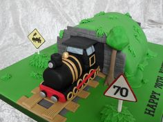 A train cake for grown ups