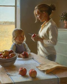 """Autumn Apples"" -- by Jeffrey T. Larson (b.1962, American)"