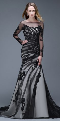 d71cd336135  183.59  Alluring Tulle Bateau Neckline Mermaid Evening Dresses