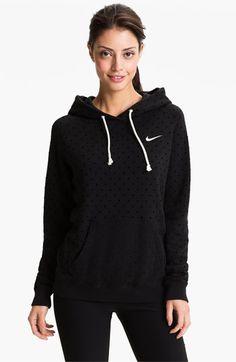 Nike 'Rally' Dot Print Hoodie   Nordstrom black or grey L