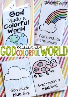 Mrs.Jones' Creation Station - God Made a Colorful World FREE Printable Emergent Reader