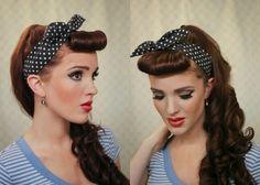 peinados-pin-up-para-fiestas 1940s Hairstyles, Great Hairstyles, Hairstyles With Bangs, Wedding Hairstyles, Pin Up Hair, Hair Pins, Pinup Hair Short, Pelo Retro, Pelo Vintage