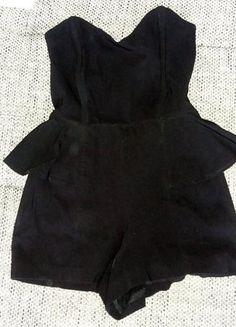 Kup mój przedmiot na #vintedpl http://www.vinted.pl/damska-odziez/kombinezony-dlugie/18092906-seksowny-czarny-kombinezon-z-baskinka-34