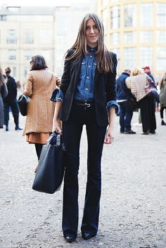 London_Fashion_Week-Street_Style-Fall_Winter_14-Denim_Suit by collagevintageblog, via Flickr