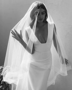 """SARAH SEVEN on Instagram: """"Veil it up ✨ Gown: Maude in Ivory"""" Wedding Goals, Dream Wedding, Yes To The Dress, Bridal Dresses, Wedding Styles, One Shoulder Wedding Dress, Marie, Wedding Inspiration, Instagram"""