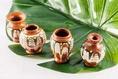 Ceramic vases miniature vases plant vases by VintageEuropeDesign