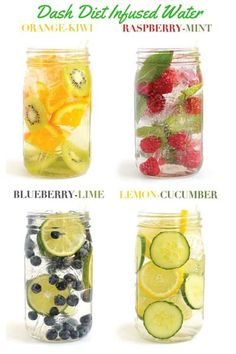 Dash Diet Beverages: Dash Diet Infused Water