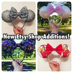 New ears listed in our Etsy shop! Head over to grab your pair for your next Disney trip  Gaston ears now available for pre-ordering!