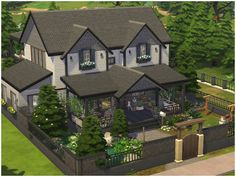 The Sims 4 Custom Content Updates Sims 3, Sims 4 House Plans, Sims 4 House Building, Sims 4 Houses Layout, House Layouts, Sims3 House, Sims 4 Family House, Sims 4 House Design, The Sims 4 Lots