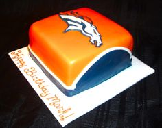 Denver Broncos Cake Denver Broncos Cake, Armadillo Cake, Football Food, Game Day Food, Foods To Eat, Pretty Cakes, Amazing Cakes, Birthday Cakes, Cake Ideas
