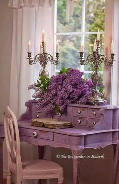 Bellas I long to have some lilac color furniture.