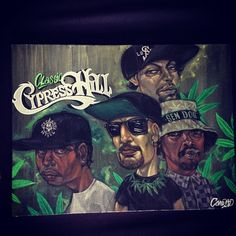 Cypress Hill *painting Of Course B Real wearing his Sullen FLys