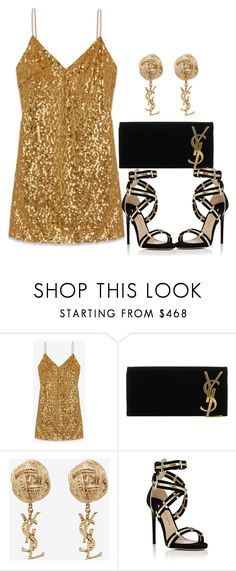 """Untitled #1113"" by itssarahh ❤ liked on Polyvore featuring Yves Saint Laurent and Paul Andrew"