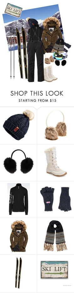 """Ski outfit for women"" by maryann-bunt-deile ❤ liked on Polyvore featuring Superdry, Old Navy, M. Miller, The North Face, EA7 Emporio Armani and Patagonia"
