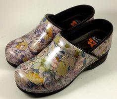 DANSKO Women's Shoes ~ Pro XP Pink Floral Patent Leather Clogs ~ Euro 38 US 8.5 #Dansko #WorkSafety