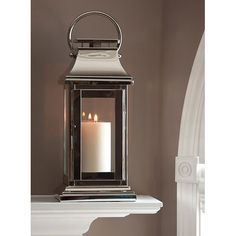Nickel Square Lantern