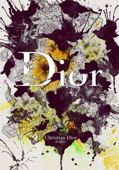 Dior - brands, clothing, creative, fashion, full bloom, Illustration, Inspiration, luxury.