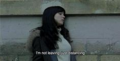 I'm not leaving, just distancing.