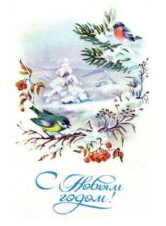 Открытка  С Новым годом!, Комарова С., 1985 г.