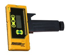 Johnson Level 40-6760 One-Sided Laser Detector with Clamp for Green Beam Lasers