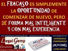 Sobre Fracasos y Oportunidades. Sobre Inteligencia y Experiencia.  www.josemanuelarroyo.com
