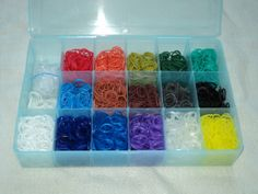 I love that so many boys are into Rainbow Loom too!  Boy Blend Box: Chock full of boys' favorite colors and a blue box too!