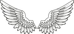 Image result for wings drawing
