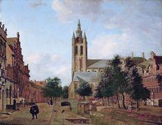 Jan van der Heyden, the Oude Kerk on the Oude Delft in Delft, 1675, Nasjonalgallariet, Oslo
