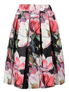 http://www.choies.com/search/floral Black Floral Print Pleated Midi Skirt