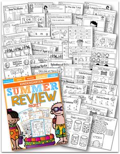 The ULTIMATE Kindergarten Summer Review Packet!  This packet has everything!  Just PRINT and GO!  LOVE it!