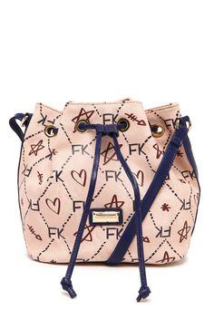 Bolsa Saco Fellipe Krein Grande Estampada Rosa Azul-Marinho 1f569b2ef76