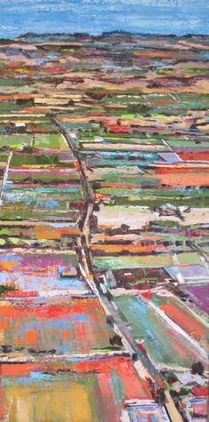 Kim Ford Kitz-'Wine Country' 48 x 24 oil on panel
