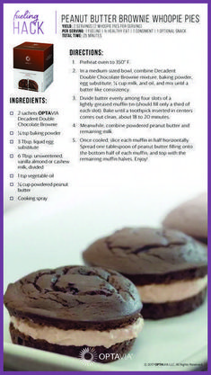 Peanut butter brownie whoopie pies So So - not bad Medifast Recipes, Gourmet Recipes, Low Carb Recipes, Dessert Recipes, Cooking Recipes, Healthy Recipes, Dinner Recipes, Cooking Games, Healthy Cooking