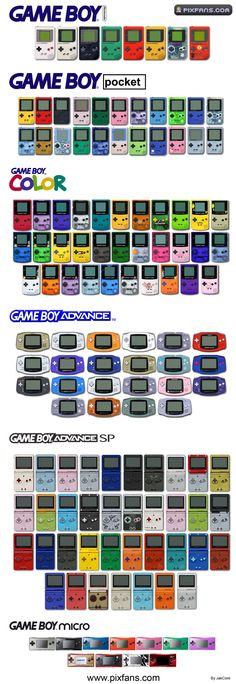 Do you remember which ones you had? Before phone companies wanted you to buy a new product every year, Nintendo pioneered the concept of redesign after redesign without actually adding to the product until further iterations.   Personally I had the OG grey, Lime green Gameboy Color, See-through purple Gameboy Advance, Red Gameboy SP. Glad They did not have the DS on this list.