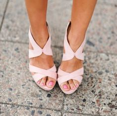 Pale Pink Sandals - rethink pink