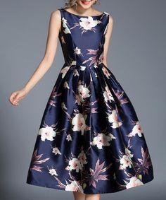 H Han Queen Fashion Sleeveless Printing Women Dress Elegant Vintage Big Swing Work Casual Long Dresses European Blue Vestidos Elegant Dresses For Women, Dresses For Sale, Casual Dresses, Fashion Dresses, Girls Dresses, Dress Sale, Long Dresses, Fashion Clothes, Pretty Outfits