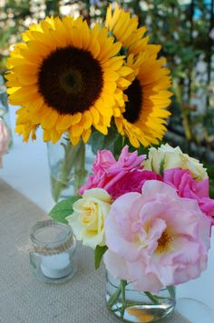 Southern Soiree. Love the flower ideas. #party