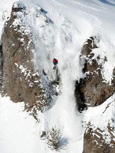 JT Holmes skiing Silverado