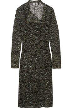 Topshop Unique - Rosalind leopard-print silk-georgette dress