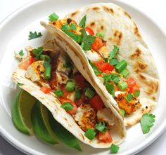 Pan Seared Tilapia Fish Tacos.....   I tried these for the first time a few weeks ago, and I'll def. be making them again. Easy to make, and I added shredded cabbage for crunch.  (Scroll down a bit to get to the recipe)